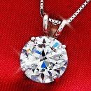 大粒2カラットczダイヤモンド14Kホワイトゴールドネックレス【送料無料・代引手数料無料】
