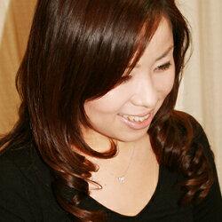 ミニリボンCZダイヤモンドK14ホワイトゴールドネックレス【送料無料・代引手数料無料】