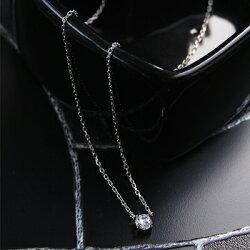 0.2カラットCZダイヤモンドK14ホワイトゴールドネックレス【送料無料・代引手数料無料】【楽ギフ_包装】【YDKG-kd】【smtb-kd】