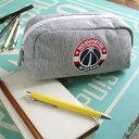 筆箱 ペンケース NBA 刺繍スウェットポーチ(グレー)バスケットボール 公式 八村塁 ウィザーズ ウォリアーズ 筆記用具 ギフト プレゼント