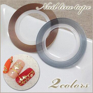 メタリックネイルラインテープ0.8mm×20M(ゴールド/シルバー)