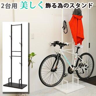 室內自行車站 2 級自行車架自行車塔自行車架展示架週期的塔站室內站自行車存儲自行車顯示兩個顯示房間室內鉤型高是防盜的控制項用於顯示維護鋼日本製造