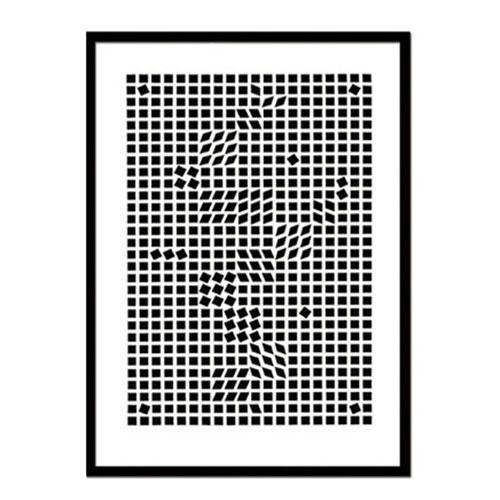 『アートフレーム Victor Vasarely Tinko,1955(Silk screen)』 アートフレーム フレーム 壁飾り 額縁 壁掛けインテリア 壁掛けアート ディスプレイフレーム インテリアフレーム 絵画 版画 シルクスクリーン Victor Vasarely Tinko,1955 おしゃれ 北欧 長方形 縦型 モダン:plank