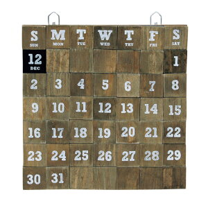 『 LIFE WITH E.D.G.E WOOD MAGNET CALENDAR L 』カレン…