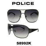 グローバル モデル 国内正規品POLICE(ポリス) ポリス サングラス メンズ S8992K 568F 人気モデル UVカット ティアドロップ ドライブ