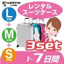 LMSスーツケース セットレンタル 7日間(10日間)用LMS7日 トランクレンタル キャリーバッグレンタル 旅行かばんレンタル