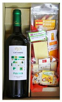 ギフト イタリア 白ワイン とチーズ&ピコス5種