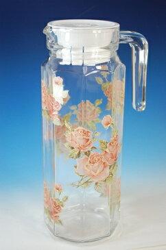 冷水筒 ガラス ゴールドローズ 麦茶ポット 冷茶ポット 1L 水差し ピッチャー日本製 冷水ポット