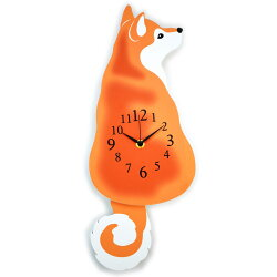 壁掛け時計振子時計赤柴後ろ姿ブラウン掛け時計クロックかわいいおしゃれ壁掛時計犬雑貨犬グッズ犬柄いぬイヌ柴犬しば犬振り子時計木製軽量人気ギフト包装無料