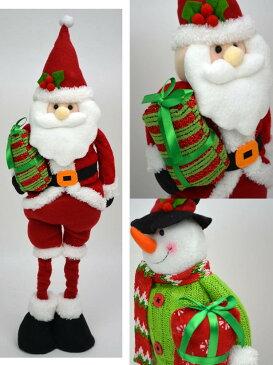セノビックル クリスマスグッズ サンタ/スノーマン 伸びる( 人形 クリスマス ぬいぐるみ 雪だるま サンタクロース 置物 ディスプレイ 飾り 装飾 かわいい 冬 雪 ギフト包装無料 )