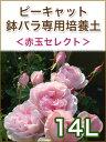 【大感謝祭】ピーキャット鉢バラ専用培養土【赤玉セレクト】 14L