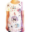 激安 Tシャツ ゆめかわいい フェアリー ガール ブルーアイ キャット ロング丈 カットソー ゆるかわ ロマンティック 妖精 少女 かわいい 子猫 ネコ好きさんに おすすめ フレンチ コラージュ