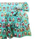 送料無料 女の子 ショートパンツ キッズ 子供服 かわいい マトリョーシカ かぼちゃパンツ りぼん おめかし 世界 民族衣装 変身 万博 おでかけ お誕生日パーティー ※日時指定不可