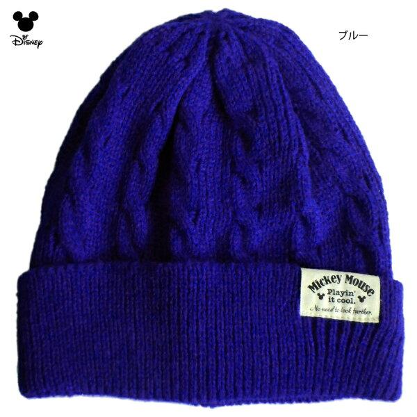 ニット帽ミッキーディズニーケーブル編みかぎ編みおしゃれシンプルかくれミッキーレトロペアルックニットキャップペア帽子メンズレディー