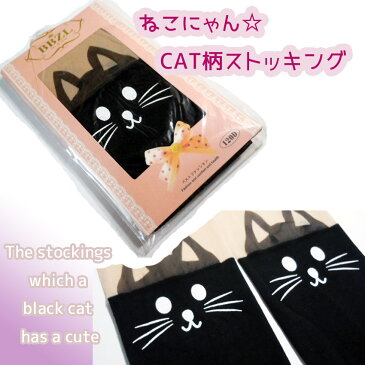 福袋 送料無料 まとめ買いでお得 日時指定なしで送料無料タイツストッキング黒猫おひざニャンコ60デニール相当キャットねこネコCAT 同梱専用商品