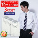 【3枚セット】 ワイシャツ 長袖 形態安定 メンズ 白 イー...