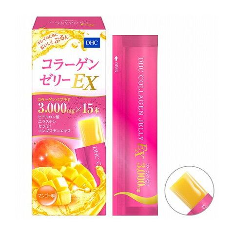 DHC コラーゲンゼリーEX マンゴー味 15包入【プラチナショップ】【プラチナSHOP】