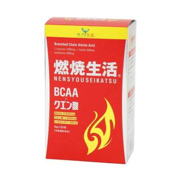燃焼生活 30包 サプリ生活 クエン酸 L-カルニチン コエンザイムQ10 BCAA 難消化性デキストリン パントテン酸カルシウム ビタミンB2 ビタミンB1 ビタミンB6