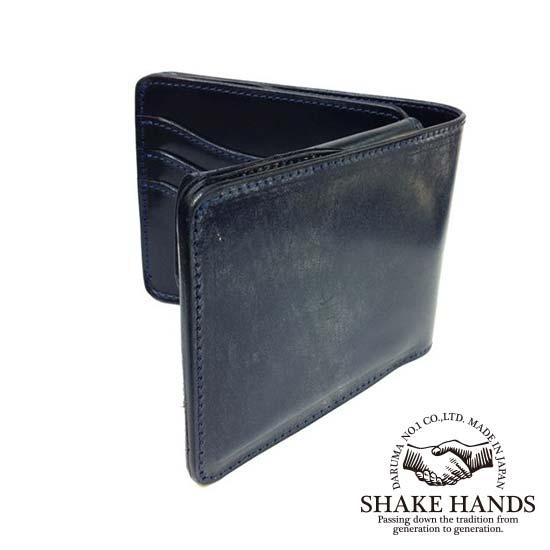 【SHAKE HANDS】シェイクハンズ SHSW-TRE(NAVY)ブライドルレザーレザー/(ネイビー)/ショートウォレット:PLATINISM