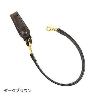 【黒羽】クロウCR-3Sキーホルダー付き平牛ロープホルダー/サドルレザー/ロープ