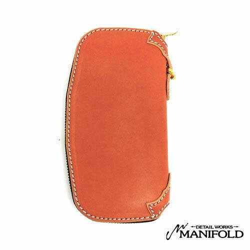 【MANIFOLD】マニフォールド【あす楽】 OWA-21 ラウンドジッパーロングウォレット/マニホヌメ(昔ながらの鞣し)長財布/ロング/