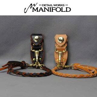 【MANIFOLD】マニフォールド【あす楽】OWR-02マニホヌメ(昔ながらの鞣し)ロープウォレット+キーホルダー/ロープ/ウォレットロープ/キーキーパー