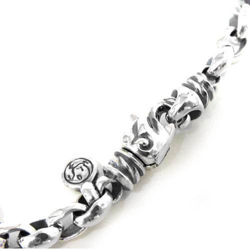 【LONE ONES】ロンワンズ【あす楽】/MF Bracelet: Silk Link - Extra Small - LobsterClasp シルクリンク-エクストラスモール-ロブスタークラスプ/シルク/シルクリンク/シルバー