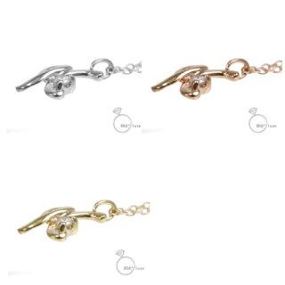 【me.luxe】ミーリュクスダイヤモンド/10KGイニシャルネックレス「K」