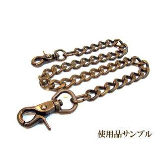 【OCTOPUSLEATHERS】オクトパスレザースBLACKWALLETCHAIN(BK)真鍮/ブラックダールコーティング(ブラック)
