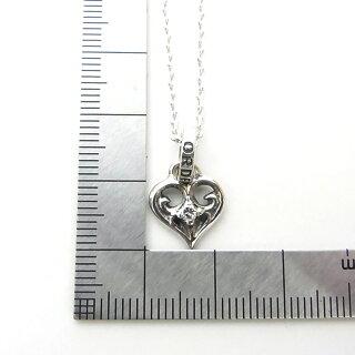 【ROYALORDER】ロイヤルオーダーSMALLALLEGRAHEARTw/DIAMOND+スモールアレグラハートペンダント+4面カットアズキチェーン40cm