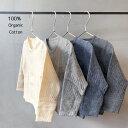 日本製 マシュマロカーディガン Organic Cotton100% 0-2歳頃 70〜85cm ノックノック 綿100% オーガニッ...