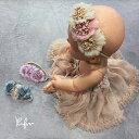 フラワー&フェイクパールモチーフ ヘア飾り カチューシャ ヘアアクセサリー 子供 ヘアアクセ キッズ 子供 子ども アクセサリー 女の子 ガール フラワーガール フォーマル パーティー 結婚式送料無料
