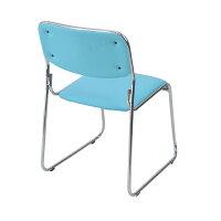 ■送料無料■新品■◆4脚セット◆ミーティングチェア会議イス会議椅子スタッキングチェアパイプチェアパイプイスパイプ椅子◆ライトブルー◆