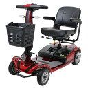 送料無料 新品 電動シニアカート 赤 シルバーカー 車椅子 PSE適合 TAISコード取得済 運転免許不要 折りたたみ 軽量 コンパクト 電動カート 四輪車 4