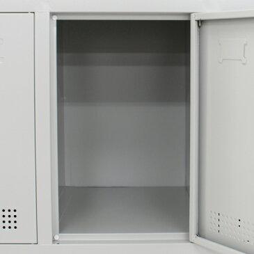 送料無料 新品 スチールロッカー スチール キャビネット シューズロッカー シューズボックス スチールシューズボックス 靴箱 12人用 鍵付き 完成品 業務用 グレー f012