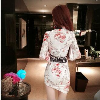 サテン素材和柄SKアシメカット&セクシー花魁着物ドレス「和柄、よさこい、おいらん、着物キャバ花魁コスプレ」