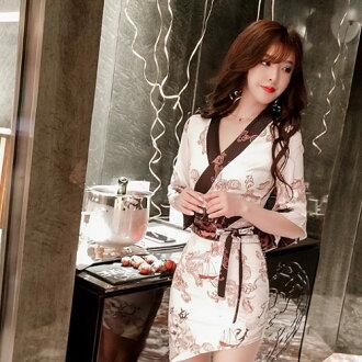 着物ドレス和柄ドレスナイトドレス「高級サテン素材、斜めアシメカット&セクシー花魁着物ドレス」和柄、よさこい、おいらん、着物キャバ花魁コスプレ
