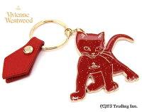 ◆VivienneWestwood◆ヴィヴィアンウエストウッド☆KittenKeyring子猫ORBキーリング(RED)【あす楽対応】【YDKG-k】【W3】【送料無料】【smtb-k】