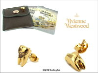 ◆VivienneWestwood◆ヴィヴィアンウエストウッド★BlakeOrbSingleStud☆歯型オーブスタッドシングルピアス(GOLD/BK)[1個売りです]【あす楽対応】【YDKG-k】【W3】【送料無料】