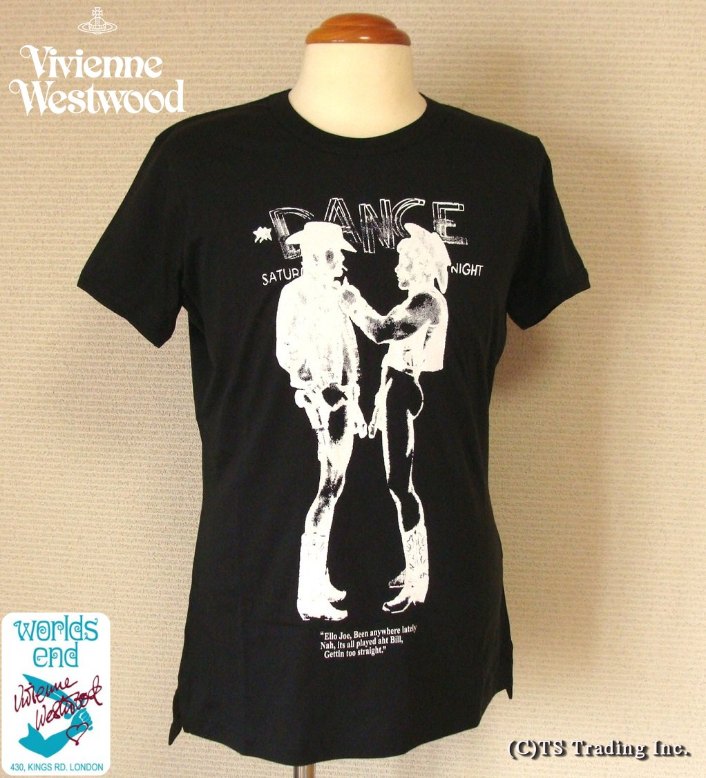 トップス, Tシャツ・カットソー Vivienne Westwood Worlds End Cowboy Print Tee TBKYDKG-kW3smtb-k