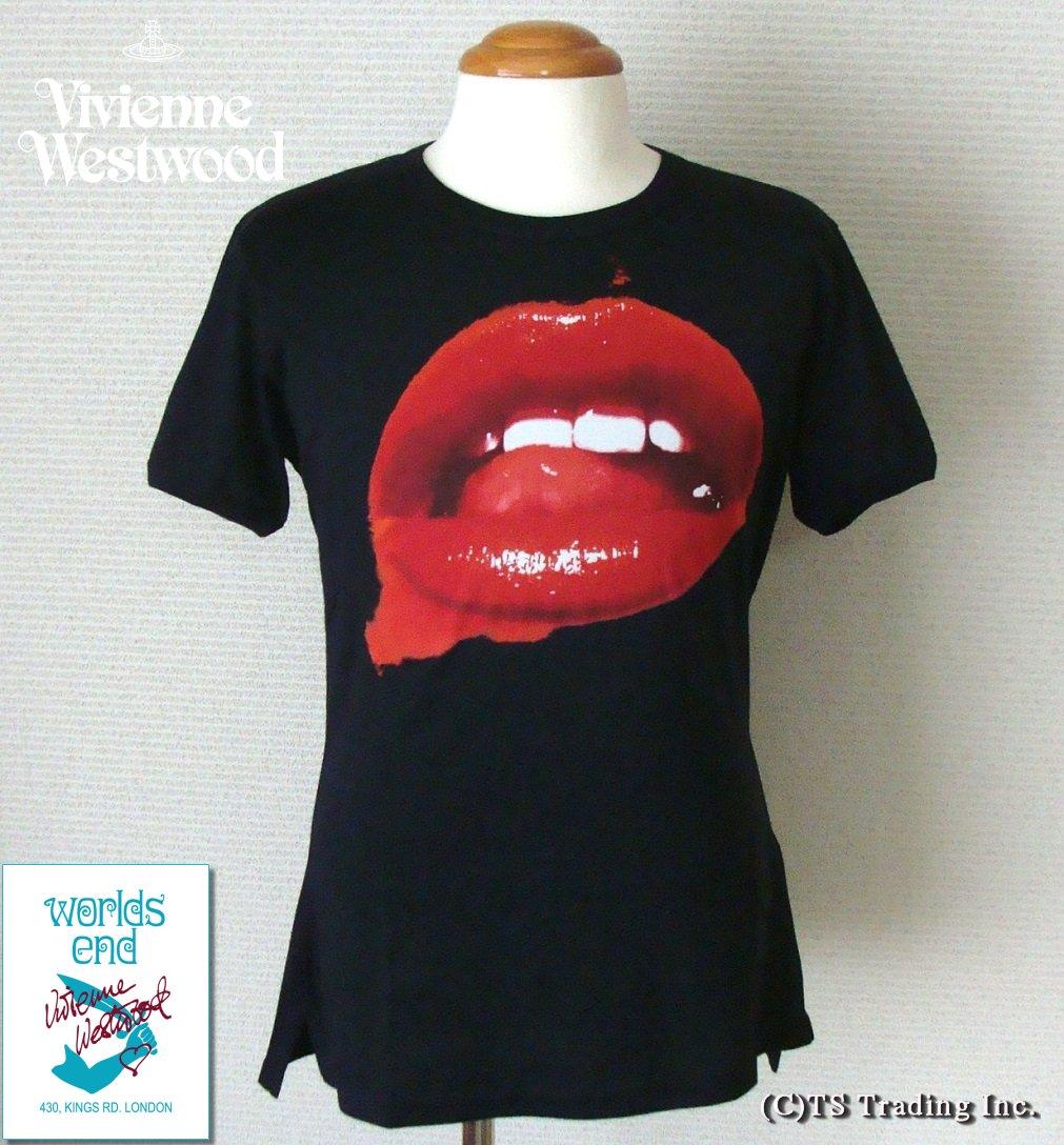 ユニセックスウェア, Tシャツ・カットソー Vivienne WestwoodWorlds End Lip Print Tee T(BK)YDKG-kW3smtb-k