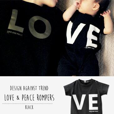 Love & Peace ロンパース Design Against Trend BLACK 80cm