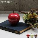 マーブルアップル Marble Apple レッド/グリーン/ブラウン 大理石 ペーパーウェイト リンゴ 林檎 オブジェ 置き物