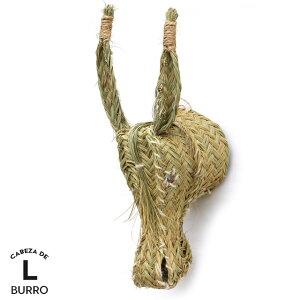 ブッロ Lサイズ CABEZA DE BURRO Large ロバ 馬 オブジェ 壁掛け L ラージ 動物 頭