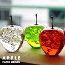 APPLE アップル Paper Weight ペーパーウェイト リンゴ 林檎 オブジェ 置き物 アクリル レッド/クリア/グリーン/アンバーの写真
