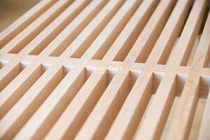 【W122cm】プラットフォームベンチ(ネルソンベンチ)メープル材