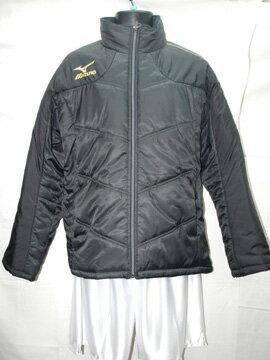 サッカー ハーフコート ミズノ キルトジャケット ブラック/ブラック A60JF-150-09
