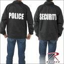 ROTHCO/ロスコブラックプリントナイロンジャケットウィンドブレーカー/コーチジャケットBLACK PRINTED LAW ENFORCEMENT LINED POLICE SECURITY/メンズ アメカジ/blklaw-cochjkt