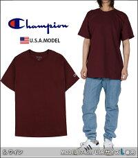 チャンピオンTシャツCHAMPION半袖Tシャツ袖ロゴ無地TシャツレディースメンズUSAモデル大きいサイズチャンピオンワンポイントホワイト白黒ブラックダンス衣装チームSMLXLLL2XL赤グレーネイビーブルー青グリーンオーバーサイズt425