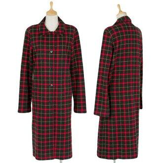 Agnes b.agnes b.棉花與聚外套紅/黑 2